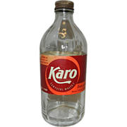 Vintage 1942 Karo Syrup Bottle