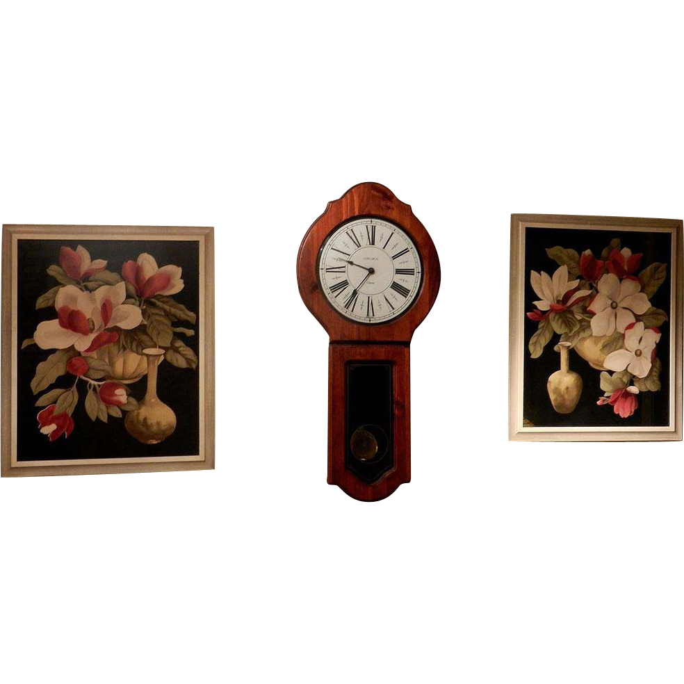 Vintage art deco floral pictures prints from for Art deco flowers