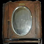 SALE Vintage Oak Medicine Cabinet with Towel Holder