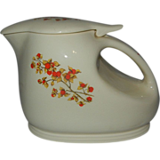 Vintage Universal Cambridge Bittersweet Water or Tea Pitcher with Ice Lip and Lid
