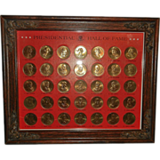 SOLD Vintage Presidential Hall of Fame Gold Tone Brass Coin Collection
