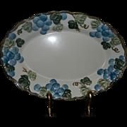 "Vintage Sculptured Grape Poppytrail 14.25"" Platter  by Metlox"