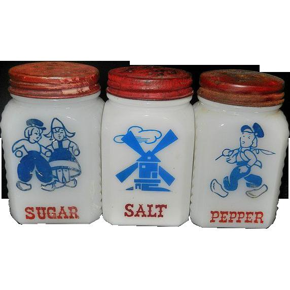 Milk glass salt pepper shaker Etsy