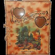 Vintage Honeymoon Book from Big Bear Lake California