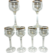 Vintage Cordials- Crystal with Gold Rim