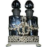 Vintage Perfume Bottles in Ormolu Carrier