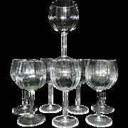 SOLD Vintage Optic Crystal Water Glasses - Red Tag Sale Item
