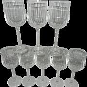 SOLD Vintage Optic Crystal Wine Glasses - Red Tag Sale Item