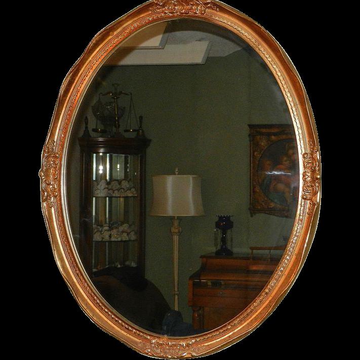 Fancy oval frame gold for Fancy oval mirror
