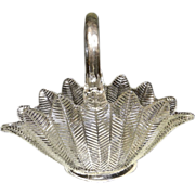 Vintage Feathered Basket No. 177 by L.E. Smith aka Sanford Crystal Basket