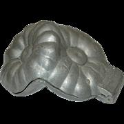Vintage Pewter Flower Ice Cream Mold