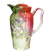 Vintage Hand Painted Chocolate Pot
