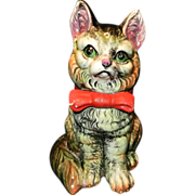 Vintage Majolica Style Kitty Cat