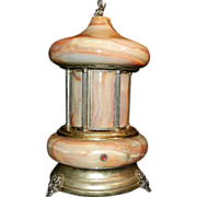 Vintage Onyx Cigarette or Lipstick Carousel made in Italy- Reuge Music Box