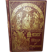 SOLD Vintage Mary Help of Christians Catholic Book  Benzinger Brothers 1909