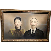 Vintage Hand Tinted Photo with Frame