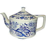 Vintage Sadler Staffordshire England Blue Onion Teapot