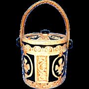 Vintage Made In Japan Ceramic Biscuit or Cookie Jar with Handle