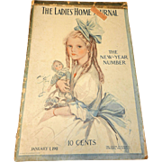 Antique Ladies Home Journal January 1 1911- Entire Magazine