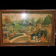 Classic Art Deco Robert Atkinson Fox Framed Art