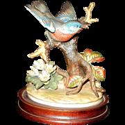 Vintage Bluebird Bisque Porcelain Figurine by Andrea