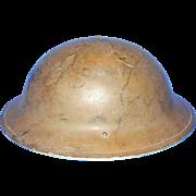 Vintage Brodie Mk.II British Steel Helmet 1942 Model