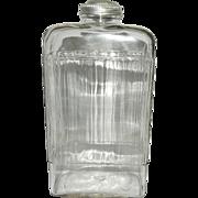 Vintage Hoosier Ribbed Juice Bottle
