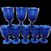 Noritake Provincial Colonial Dark Blue Water Glasses