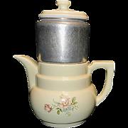 Vintage Enterprise Aluminum Company Porcelain Drip Coffee Maker