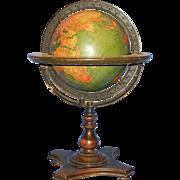SALE Vintage Kittinger Company 8-Inch Terrestrial Table Globe Buffalo, New York: c. 1927-30