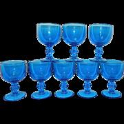 Vintage Blue Water or Tea Goblets