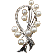 """SALE Valentines Day Sale !  GORGEOUS & Large 1.9"""" Mikimoto Akoya Cultured Pearl Sterling"""