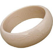 FAB French Ivory Bangle - Faux Ivory 1970's - 1980's