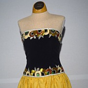 SALE Vintage 1980s Bob Mackie Bead and Sequin Detail Cocktail Dress