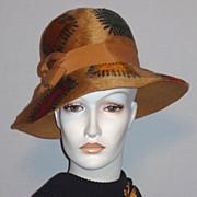 SALE Vintage 1960s Mr John Jr Patches Fur Felt Fall Colors Hat