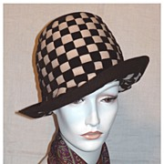 SALE Vintage 1960s  Mr John Jr Woven Wool Felt Hat