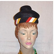 Vintage 1960s  Lilly Dache Straw Dachettes Hat