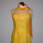 SALE Vintage 1960s Tina Leser Original By GaBar Yellow Possibly Deadstock Swimsuit