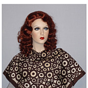 Vintage 1960s  Givenchy  Bullseye Design Silk Scarf