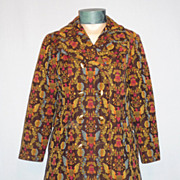 SALE Vintage 1970s Bicentennial Tapestry Coat