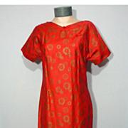Vintage 1960s  Kamehameha Oriental Style Evening Dress Made in Hawaii