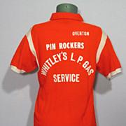 Vintage 1960s Hilton Bowling Shirt Pin Rockers Made in USA