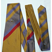 Vintage Lanvin Bluebirds Nest Silk Tie Made In Italy