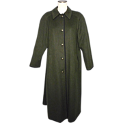 SALE Vintage 1980s Lodenfrey Green Wool Long Hunting Coat