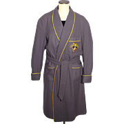Vintage 1950s West Point Gray Wool Robe