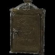 Rare Miniature Soft Metal Medicine Cabinet Dollhouse