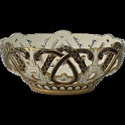 Antique English Creamware Wedgwood Wedgewood Chestnut Basket