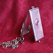 SOLD Quirky Sterling Antique Knights of Columbus Case Dated 1910