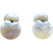 Mother of Pearl Turn of the Century Tulip-Shaped Cufflinks
