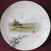 SALE Raphael Tuck Christmas Gift Signed Dec. 25, 1886 Victorian Miniature Paper Plate